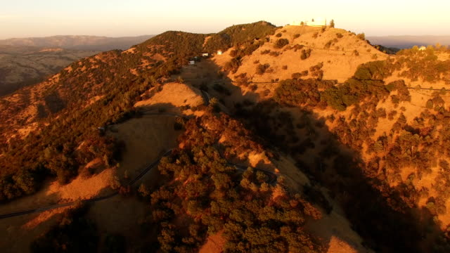 flying toward top of california hill - marin stock videos & royalty-free footage