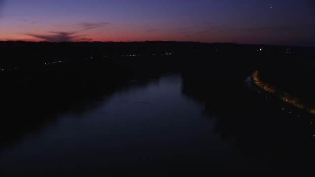 Flying up the Potomac River at night. Shot in 2011.