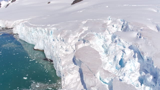 Flying views over Glaciers on Livingston Island, Antarctica
