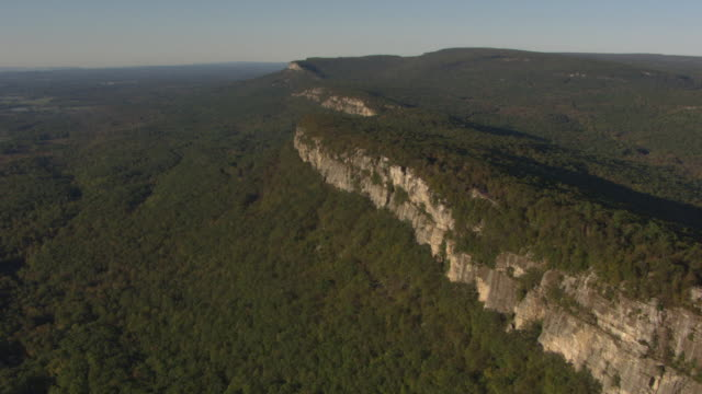flyover aerial of the shawangunks - hudson valley stock videos and b-roll footage