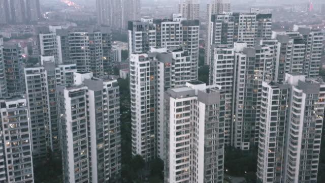 vidéos et rushes de flyover residential buildings - pékin