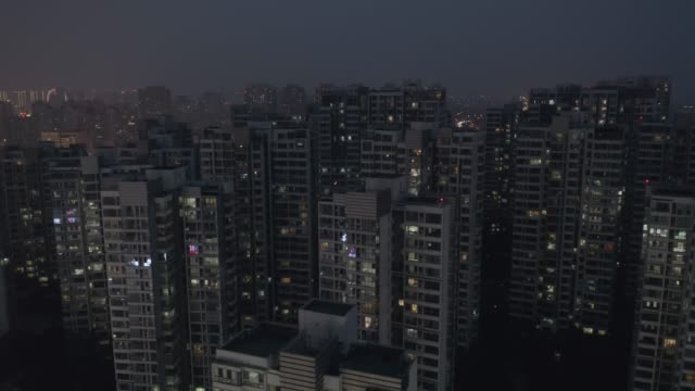 flyover residential buildings - tower stock videos & royalty-free footage