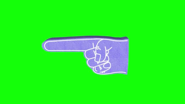 foam hand pointing 3d render, index finger pointing animation - index finger stock videos & royalty-free footage