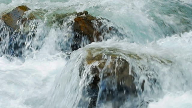 foaming mountain river cinemagraph - rapid stock videos & royalty-free footage