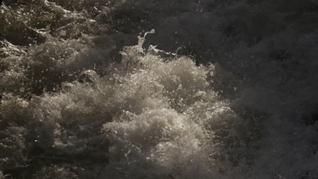 foaming river rapids, powys, wales - powys stock videos & royalty-free footage