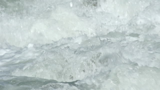 SLO MO Foaming White Water Close-up