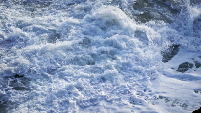 Foamy surf, slow motion