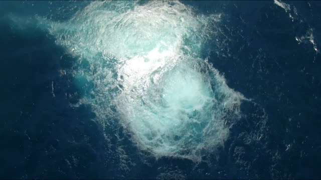 foamy water after ship sinking - sinking stock videos & royalty-free footage