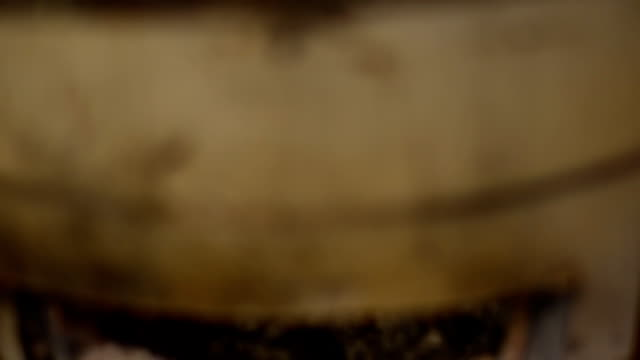 vídeos de stock e filmes b-roll de foco e rolamento: cozinhar churrasco lula - marisco