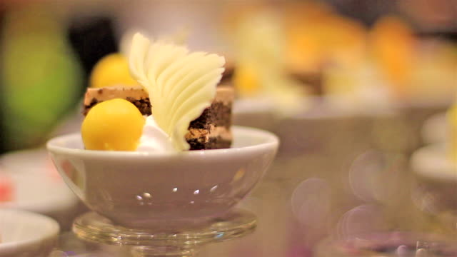 focus chips: sweets in glass. - macaroon stock videos and b-roll footage
