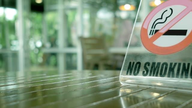 focus : no smoking sign on table - no smoking sign stock videos & royalty-free footage