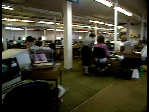 TV shopping MS Janet Fraser Catalogue office as women workers seen at terminals PAN RL CMS Telephonist working SOT Littlewoods Home Shopping Group MS...