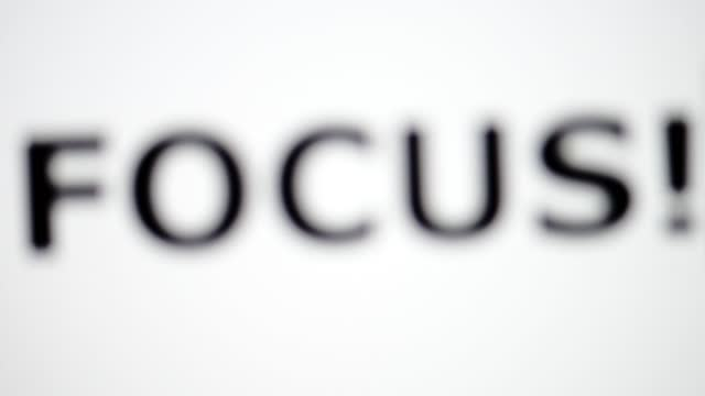 focus - capital letter stock videos & royalty-free footage