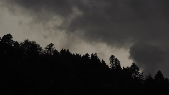 fog and clouds (caucasus mountains) - hill stock videos & royalty-free footage
