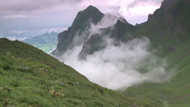 vidéos et rushes de brouillard et les alpes -nebelbildung à den alpen - format hd