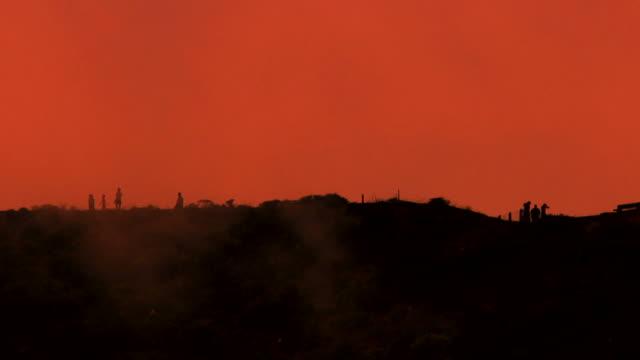 fog hill - apocalypse stock videos & royalty-free footage