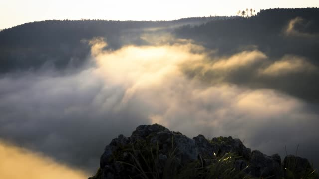 Mist in de Donau-vallei, TimeLaspe