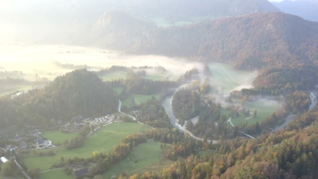fog in the mountains near lake bled, slovenia - lake bled stock videos & royalty-free footage