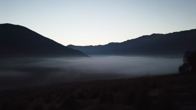 fog is seen covering the area of mount bromo on july 16 2019 in probolinggo east java indonesia tenggerese people are a javanese ethnic group in... - tengger stock videos & royalty-free footage