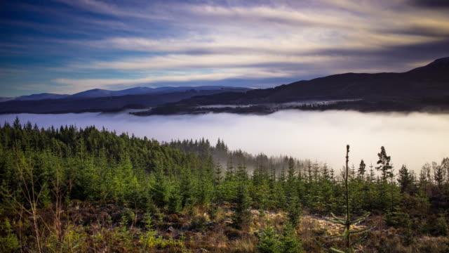 Fog on Loch Garry - Time Lapse