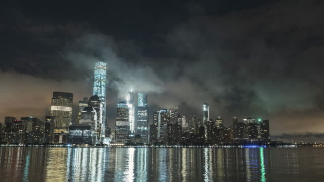 Fog Over Lower Manhattan At Night