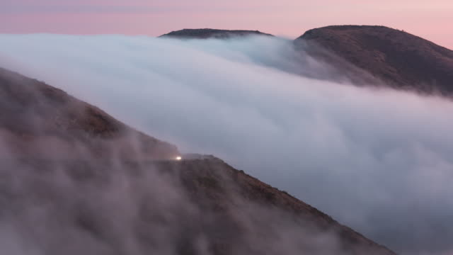 fog over rolling landscape - marin stock videos & royalty-free footage