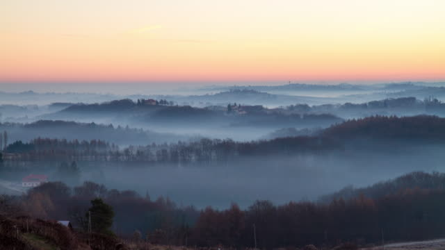 T/L Fog over the countryside