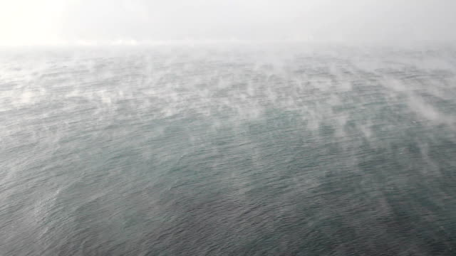 fog over the sea (time lapse) - surface level stock videos & royalty-free footage