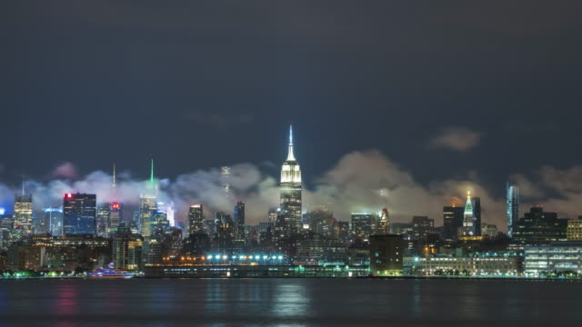Fog Rolling Over The New York City