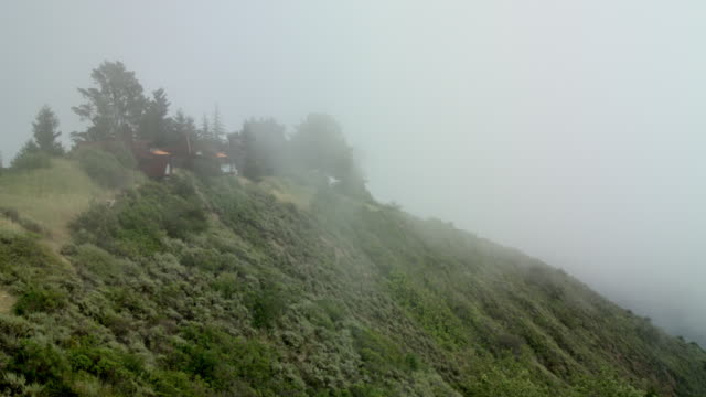 Fog Rolling Through Mountain Side Time-lapse in Big Sur