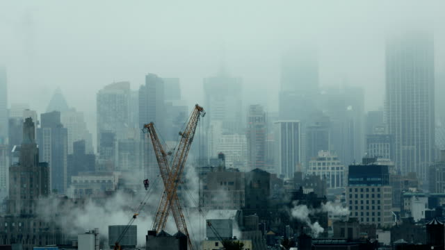 foggy cityscape - overcast stock videos & royalty-free footage
