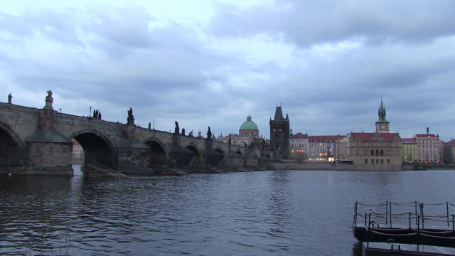 ws foggy clouds flowing over vltava river / prague, hlavni mesto praha, czech republic - river vltava stock videos and b-roll footage