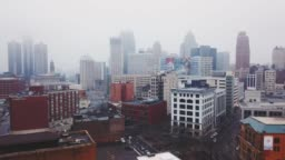 Foggy Downtown Detroit 07