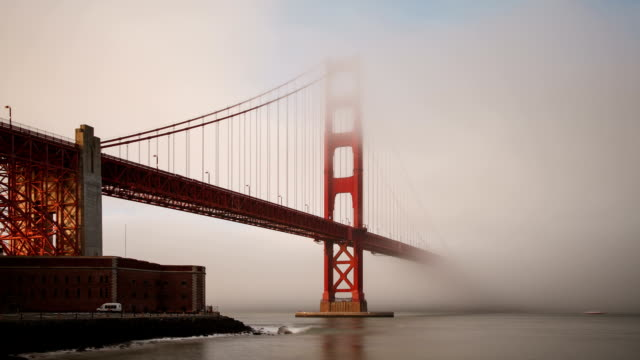 Foggy Golden Gate Bridge In Sn Francisco