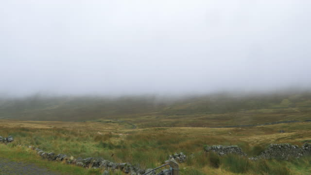foggy mourne mountain countryside morning,northern ireland - northern ireland stock videos & royalty-free footage