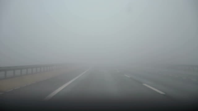 霧の道 - 散歩道点の映像素材/bロール