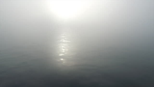 foggy weather off coast of dover at dawn - weather stock videos & royalty-free footage