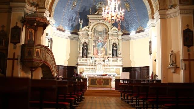 fojnica franciscan monastery - altar stock videos & royalty-free footage