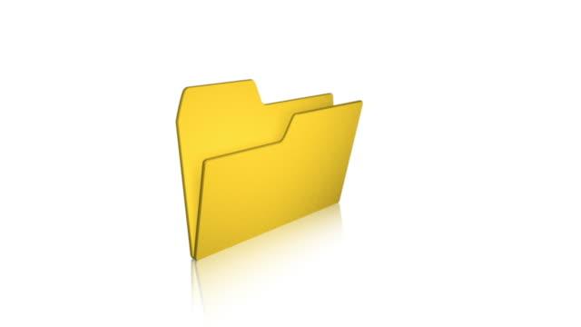 vídeos de stock e filmes b-roll de pasta 01 documento de ficheiros do computador - pasta