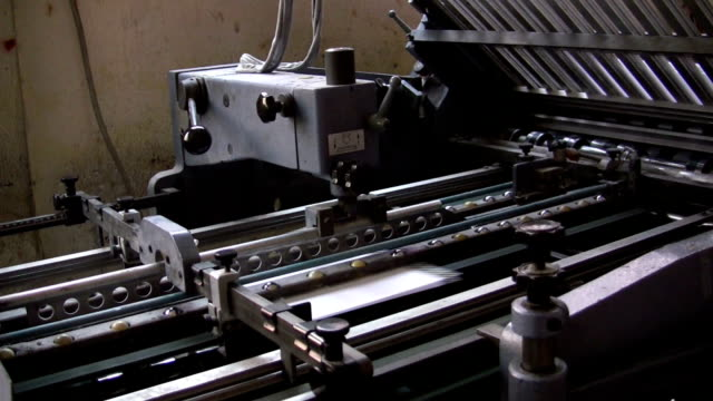 folding machine - folded stock videos and b-roll footage