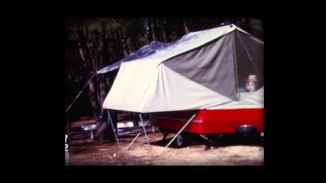 1962 fold-out camper at jonathan dickson camp grounds - florida us state stock videos & royalty-free footage