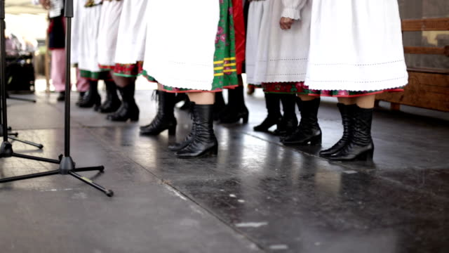 folk band, legs, shoes - traditional ceremony stock videos & royalty-free footage