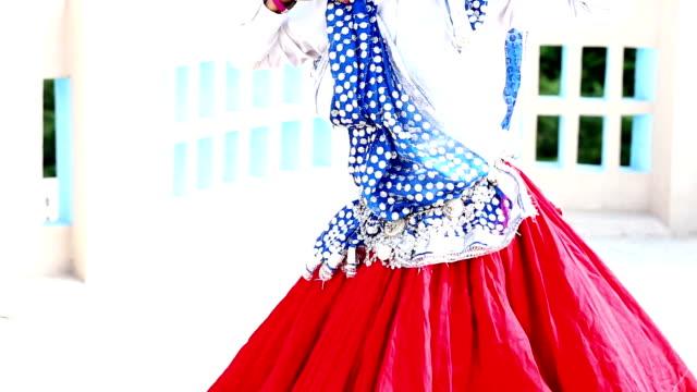 folk dance - sari stock videos and b-roll footage
