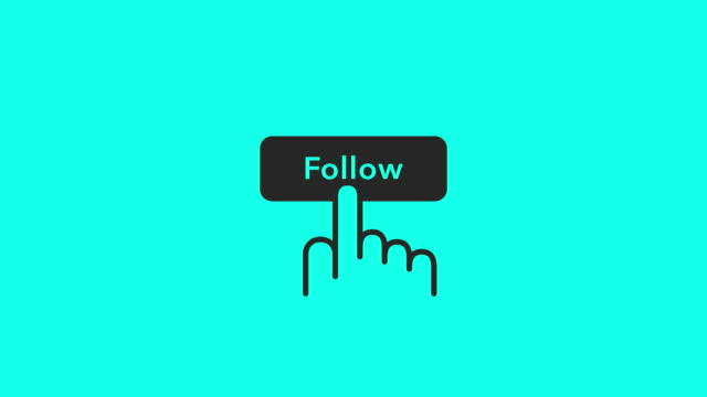 follow icons - vector animate - following stock videos & royalty-free footage