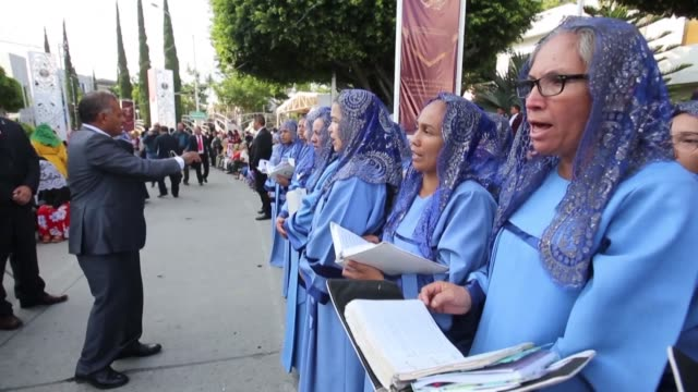 followers of la luz del mundo an international religious organization based in mexico gather for an annual celebration in the western city of... - religious celebration stock videos and b-roll footage