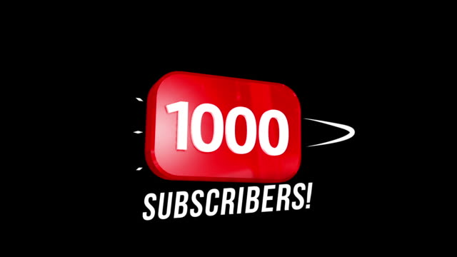 1000 followers thank you video post. special 1k user goal celebration for one thousand social media friends, fans or subscribers - following stock videos & royalty-free footage