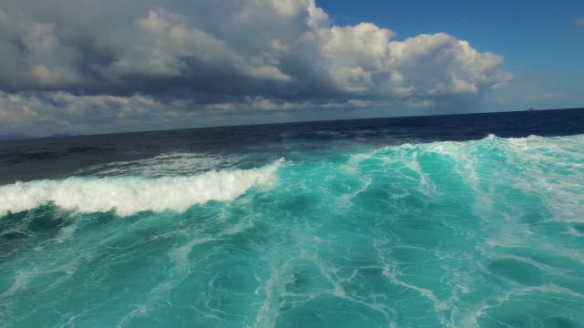 following a wave crashing onto a beach - close to stock videos & royalty-free footage