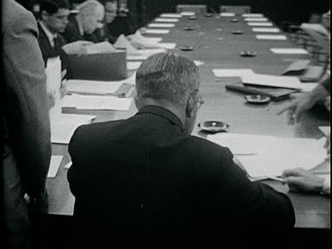 following david schwartz & others into conference room, vs unidentified men signing papers at table. - board room stock videos & royalty-free footage