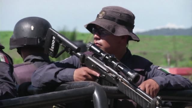 following deadly attacks on tuesday by armed men on security forces the mexican police and army have gone to war against the knights templar a... - michoacán video stock e b–roll