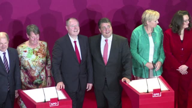 following the approval of the members of the spd in a coalition with the cdu, the conservative angela merkel should be re-elected on tuesday by... - politics and government stock videos & royalty-free footage